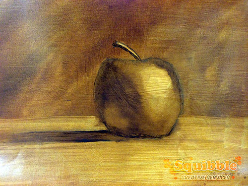 Test Still Life Oil Painting by Squibble - Apple