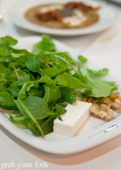 Feta cheese, walnuts and herbs for sangak Persian bread during a Frying Pan Adventures food tour in Dubai