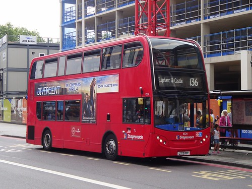 Stagecoach London 10124 on Route 136, Elephant & Castle