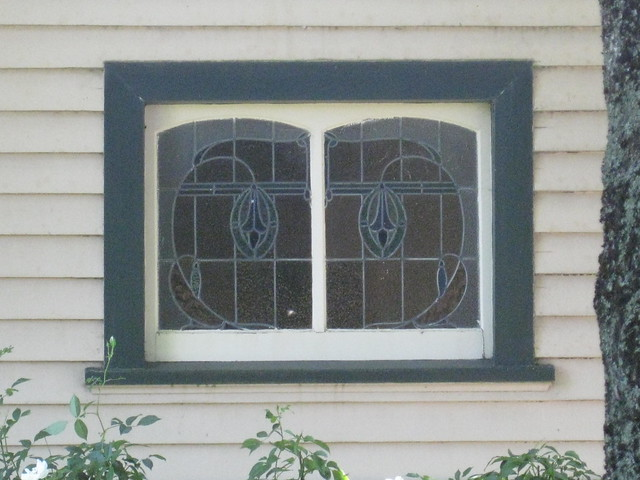Art Nouveau Stained Glass Vestibule Window Detail Of A