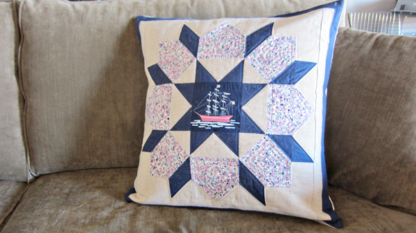 swoon + out to sea pillow for e
