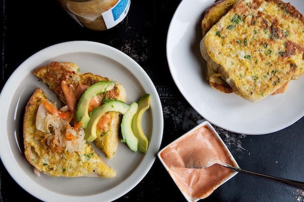 Savory french toast from Food52