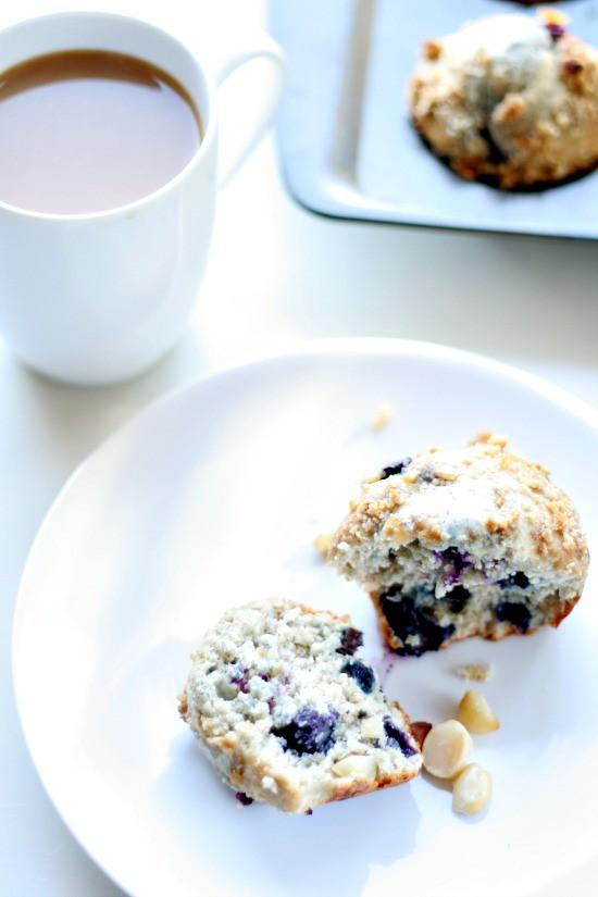 Blueberry Macadamia Muffins