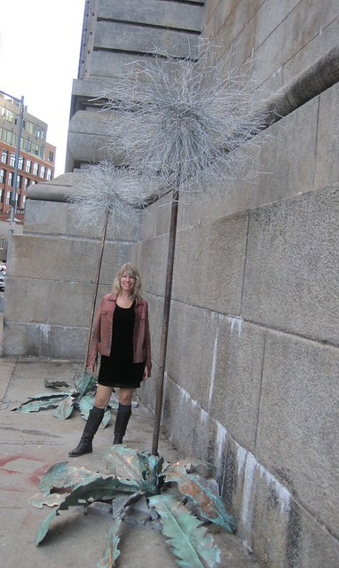 Dandelion Sculptures Artist Marney Fuller. Photo by Andy Mazo.