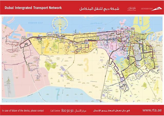 杜拜公車路線1 Dubai_Roads_Map