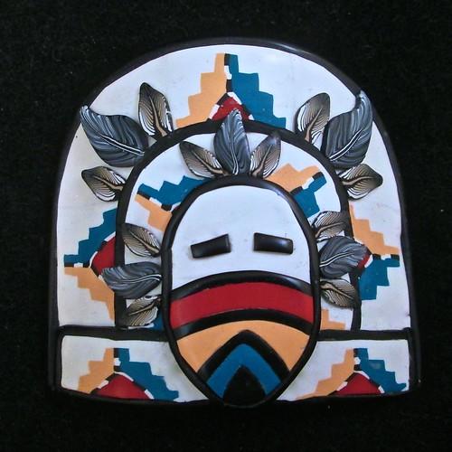 Butterfly Kachina Mask/Bracelet tile/Pendant