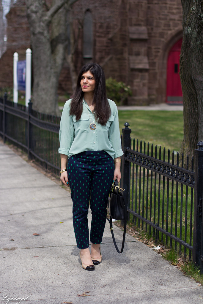 mint blouse and printed pants.jpg