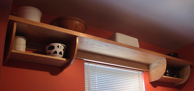 Kitchen Shelf Unit: Installed