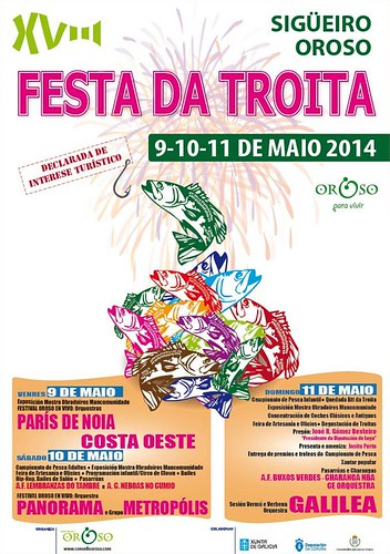 Oroso 2014 - Festa da Troita en Sigüeiro - cartel