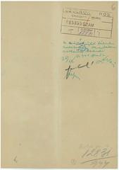 VI/3. Dr. Bajor Sándor zsidó orvos, hivatkozva édesapja 1919-ben Szamuelyék által történt kivégeztetéséért járó mentességére, kérelmezi nyolc hónapos terhes felesége mentesítését a gettóba vonulás alól.  mnljnszml6_2e