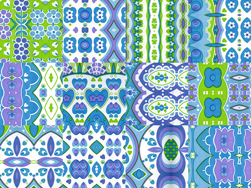 70s fabric sampler