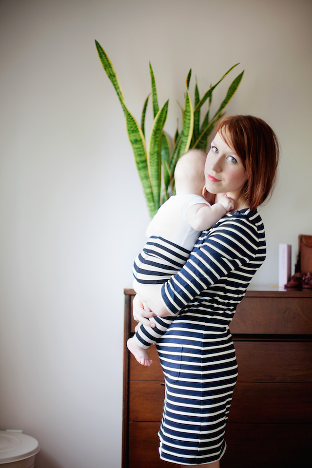 Mom Uniform - Striped Dress