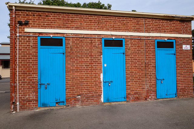 What's behind the blue doors?