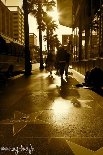 On ne peut visiter Los Angeles sans passer par le célèbrissime Hollywood Boulevard, entre succès et pauvreté...