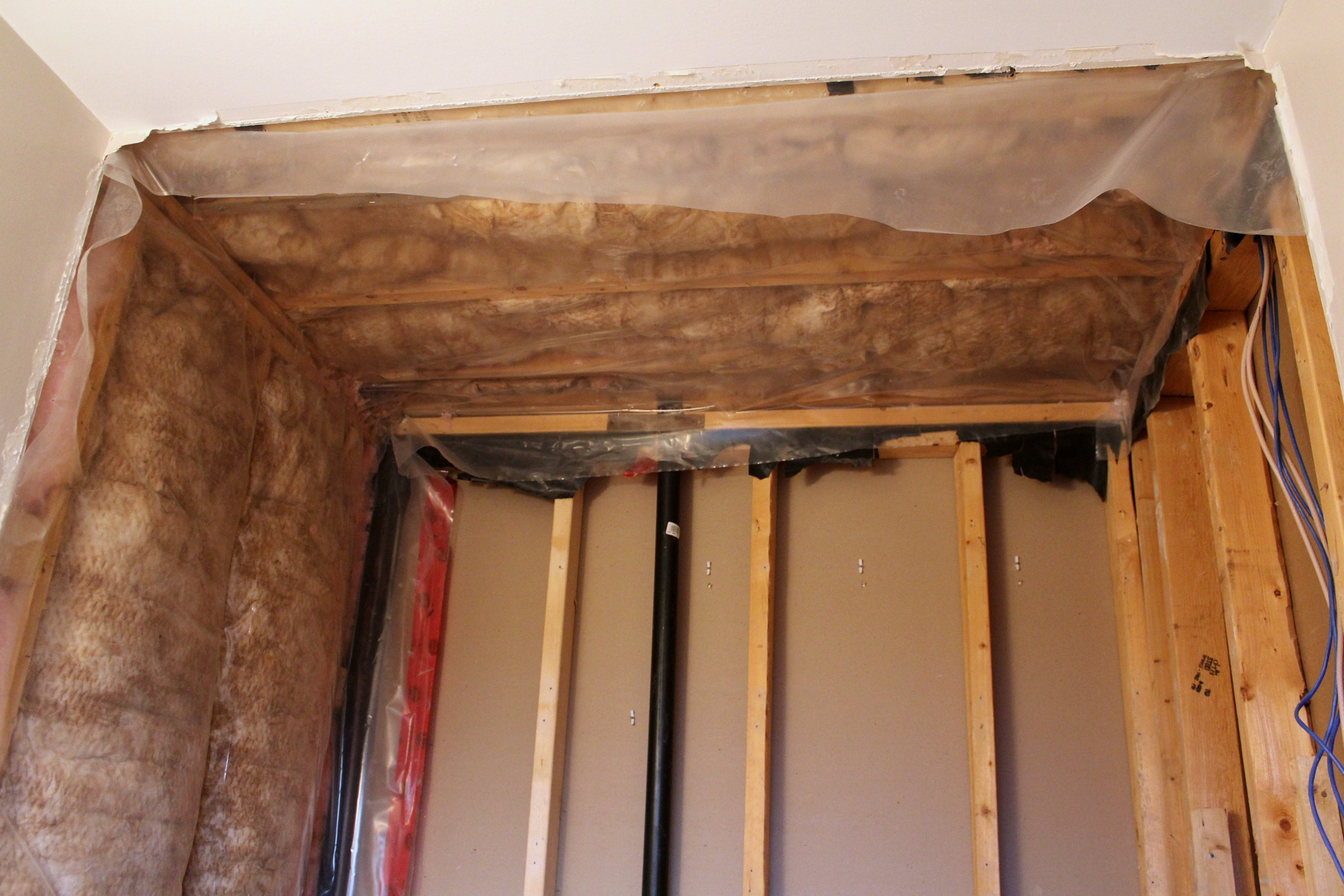 bathroom insulation and vapor barrier