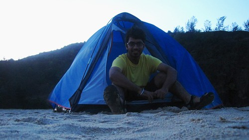 Waking up in Tent