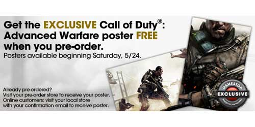 Call of Duty: Advanced Warfare pre-order bonus detailed