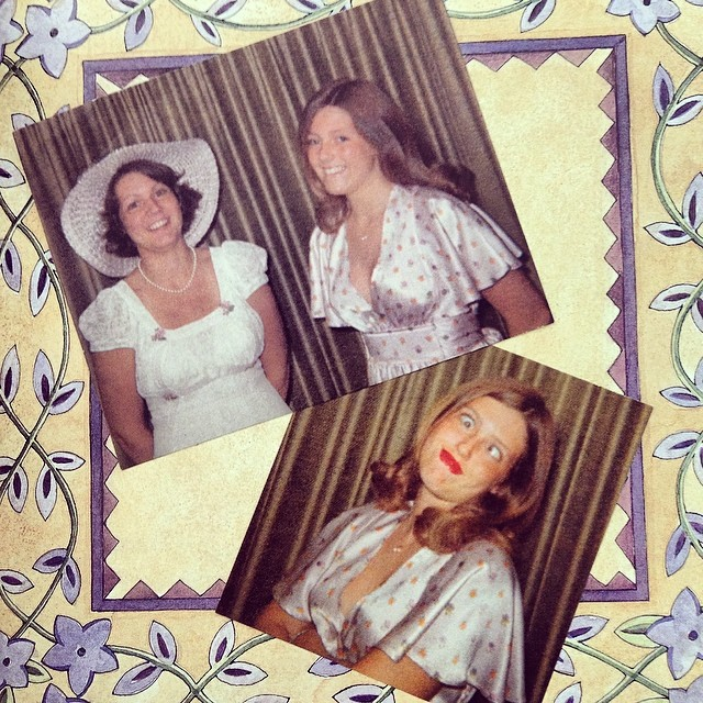 For blog. Susie, Donna, prom 1974