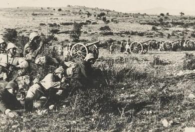 Turkish artillery in Palestine