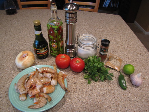 Shrimp Mexicana Ingredients