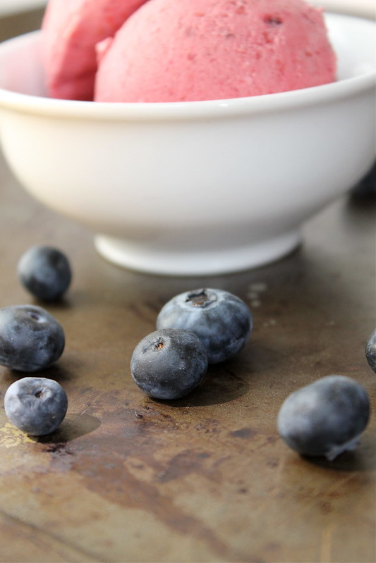 blueberries and ice cream