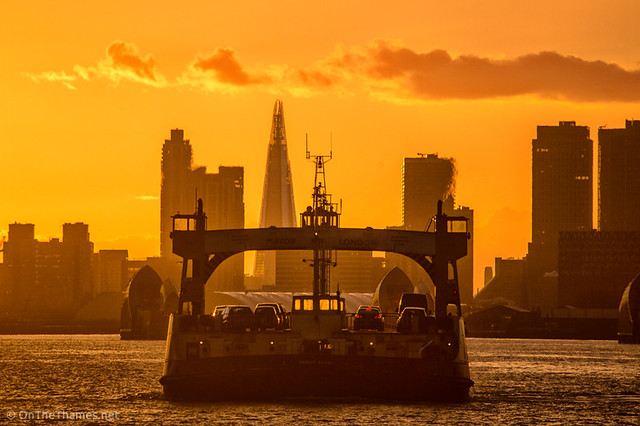 Woolwich Free Ferry at Sunset