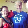 "My 84-year-old #boxing #trainer, Doug. Instead of fluffy encouragement, he says, ""That's good enough."" #dougsgym"