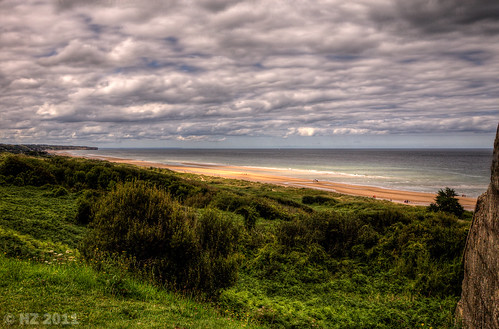 Omaha Beach - Easy Red Sector - View  from WN62, Normandy
