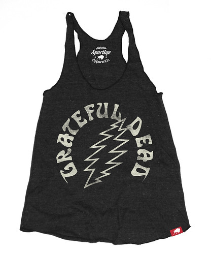 Grateful Dead Tank Top, Womens, Lightning Bolt