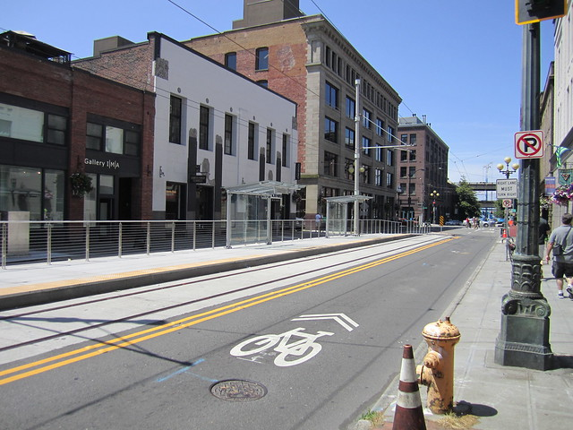 Occidental streetcar stop