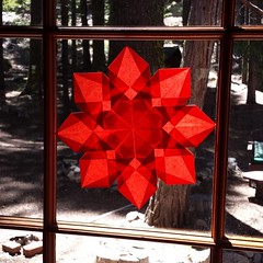 Star for Mimi's cabin #waldorf #summer #sierra #star #windowstars #red