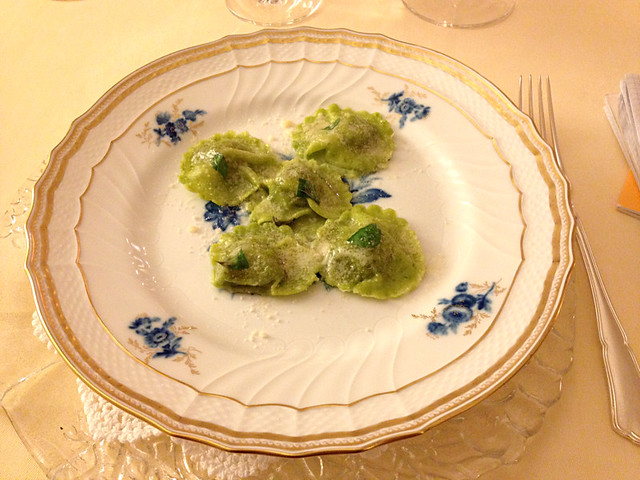 Ravioli with Bettelmatt cheese, Restaurant Sorriso, Lake Orta