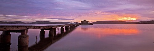 lake reflection water sunrise jetty australia nsw centralcoast brisbanewater woywoy paddysosyters