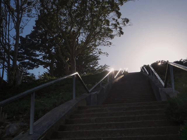 steps to Grand View Park at Moraga and 14th Ave, San Francisco (2014)