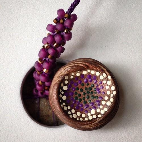 #kumihimo in progress with Rebekah's art bead