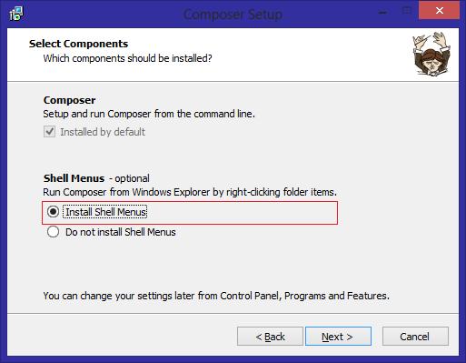 1. Install Composer