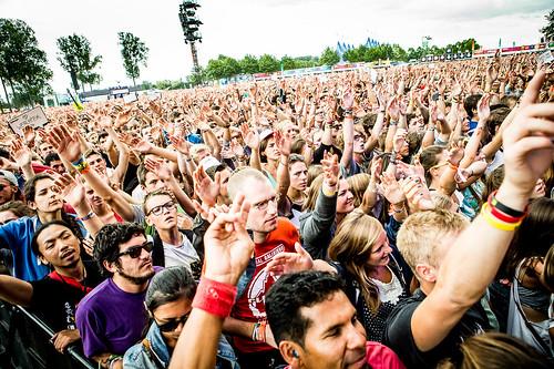 Rock Werchter 2014 mashup foto - Een massale begroeting voor Rudimental
