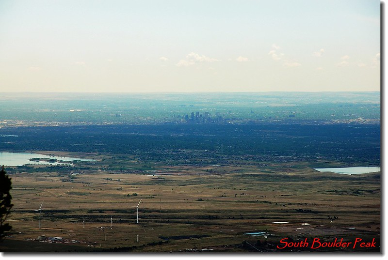 Zoom shot of Denver from the summit