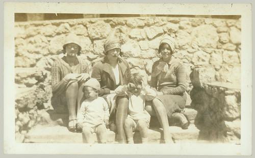 Three women, two children
