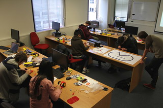 Students during the Arduino Academy 2014. Photo by Kristina Hoeppner