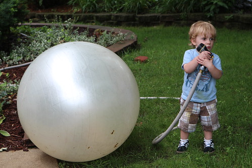 Martin with Hose and Big Ball