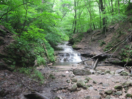 Waterfall at far end of Parfrey's Glen
