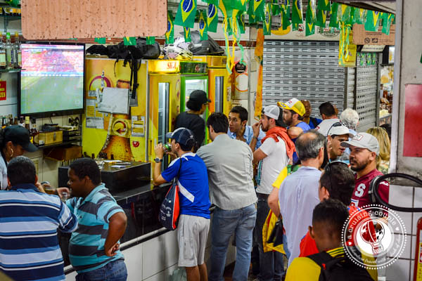 Central Market Watching World Cup in Brazil