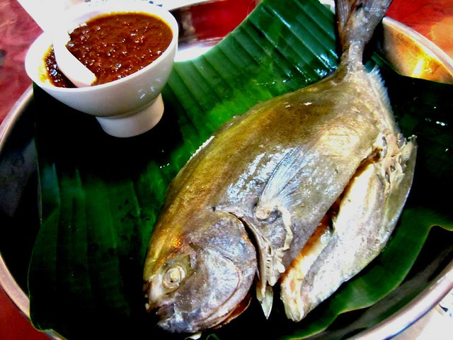 Baked fish with sambal