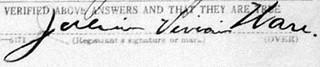 Ware's signature.