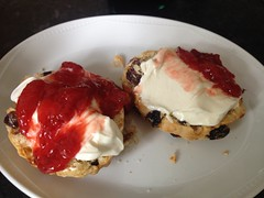 scones with homemade strawberry jam