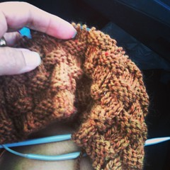 And for the return trip ... New square #knitting #handmade #makestuff #craft