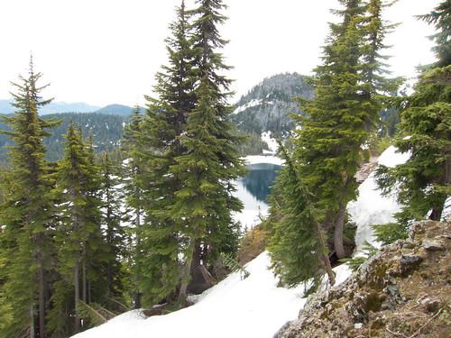 Rachel Lake through the trees