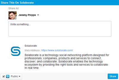 Solaborate-social-sharing