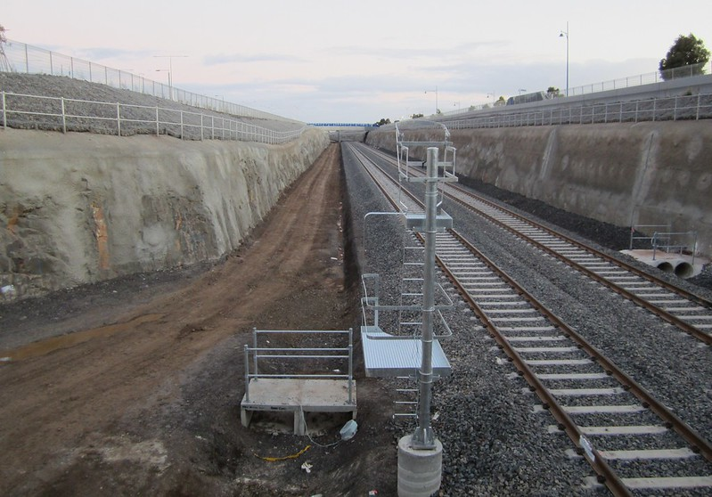 Looking south from Wyndham Vale station